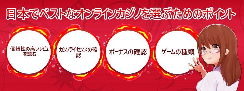 日本のベストオンラインカジノを選ぶコツ