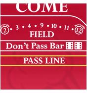 パスライン(Pass Line)/ドントパス(Don't Come)