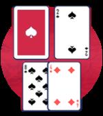 ディーラーの表のカードが2か3ならハード12で必ずヒット